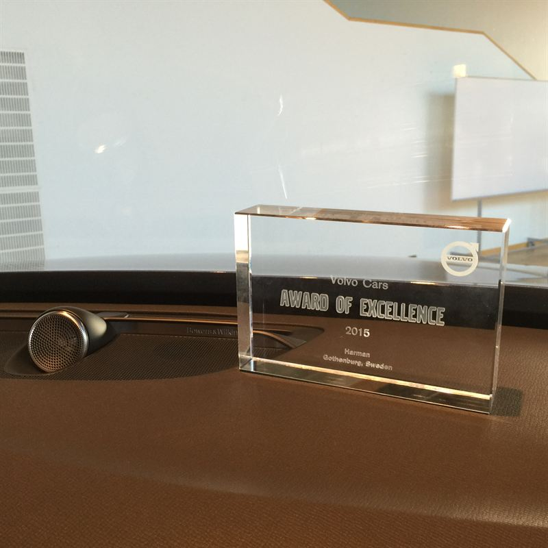 Volvo Xc90 Bowers Wilkins Sound Estate: HARMAN Recognised As Top Supplier With Volvo Cars Award Of