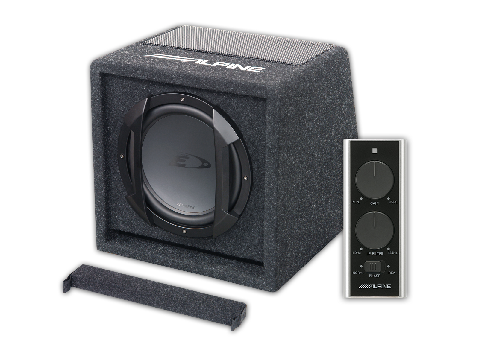 Alpine Swe 815 Active Subwoofer With Wired Remote Control Adam Edge Amp And Wiring Kit