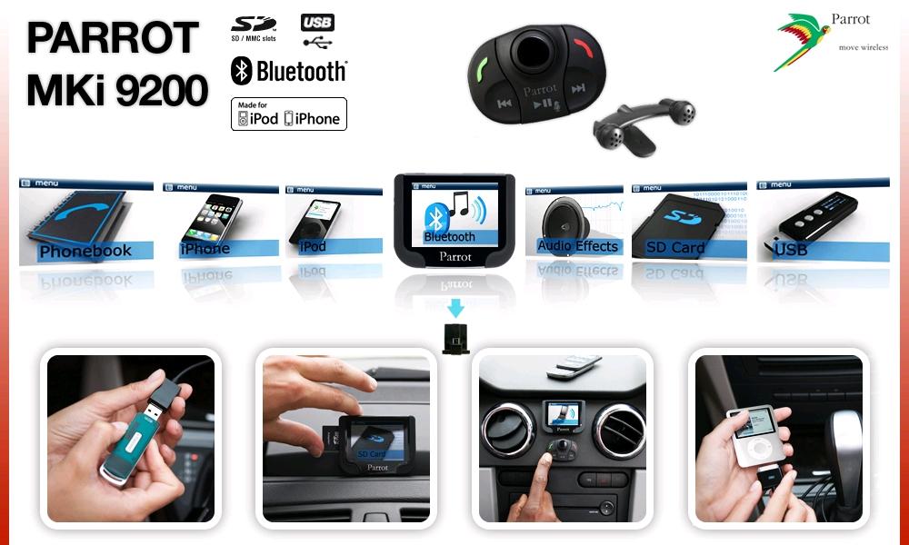 Parrot Mki9200 Bluetooth Handsfree Calls Music System Adam