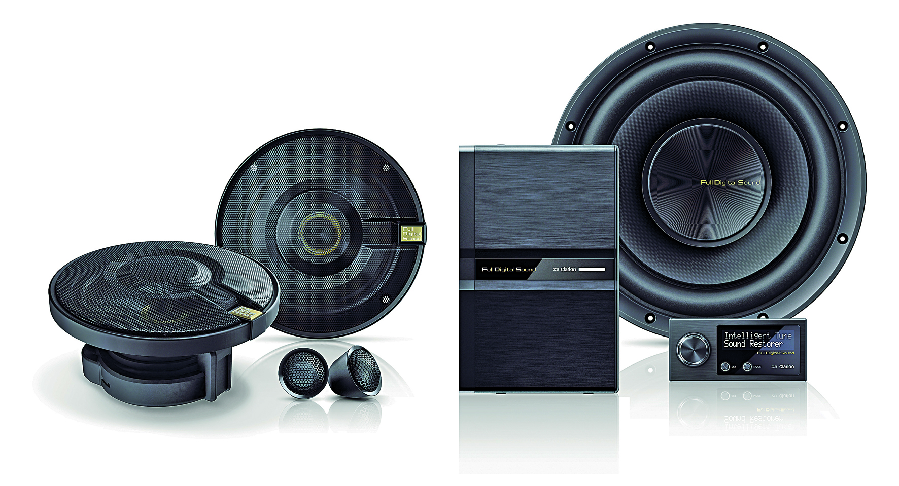 clarion launches new full digital sound system adam. Black Bedroom Furniture Sets. Home Design Ideas