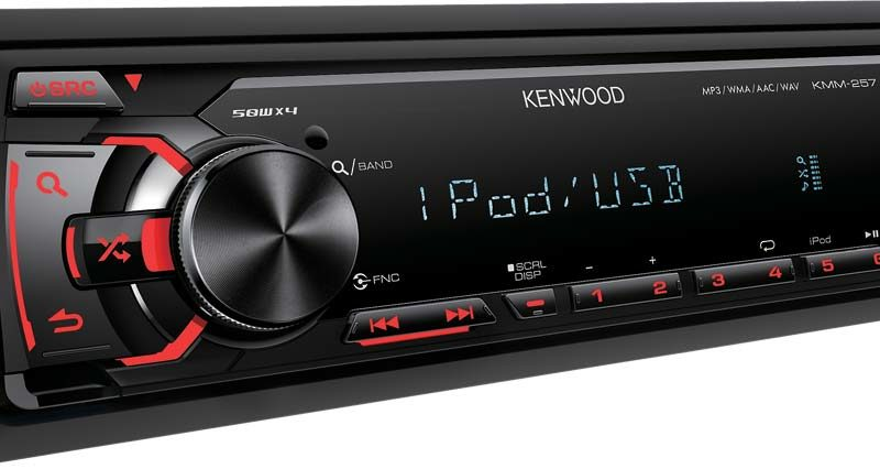 Kenwood KMM-257U Single DIN FM/USB/iPod/FLAC Head Unit - Adam Rayner